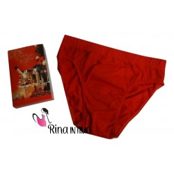 SLIP UOMO WANTED ART. RS1026 ROSSO